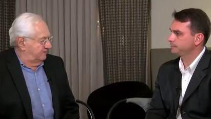 Boris Casoy rebate Globo sobre Flávio Bolsonaro