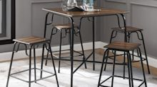 This 5-piece dining room set is on sale for $79 and reviewers love it: 'Stylish table, great value, perfect size'