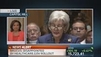 Another day on the hot seat for Sebelius