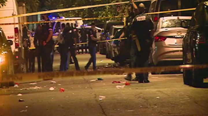 1 dead, at least 20 injured in shooting at block party