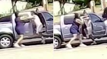 Shocking road rage fight breaks out in middle of Sydney roundabout
