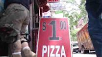 Checking out the 99 cent pizza slices around New York City
