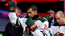 Wild's Matt Dumba raises fist during national anthem