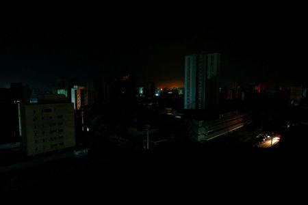A view of the city during a blackout in Maracaibo