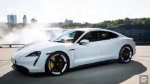 Porsche unveils production version of its Taycan electric sports car