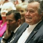 Houstonians showing support for George HW Bush after latest health issue