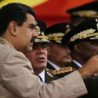 Venezuela's Defense Minister backs Maduro in state television news appearance