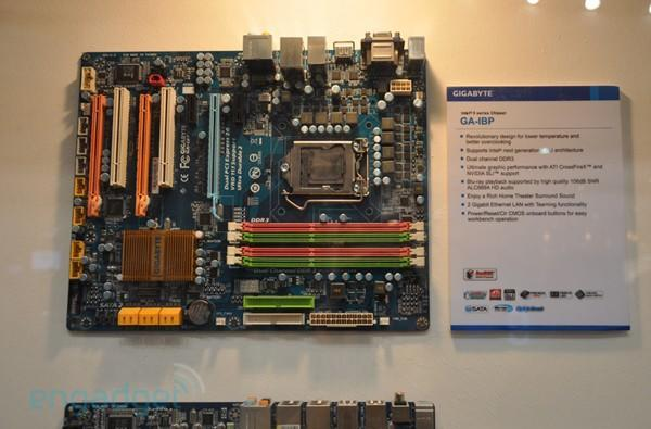 Gigabyte shows off GA-IBP Core i5 motherboard at CeBIT