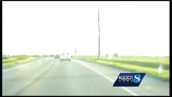 Car chase caught on video