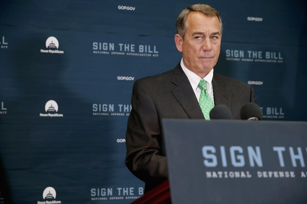 Speaker of the House John Boehner holds a news conference on October 21, 2015 (AFP Photo/Chip Somodevilla)
