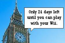 UK gets countdown clocks to Wii launch