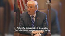 President Trump designates North Korea a 'state sponsor of terror'