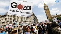 45,000 Londoners Protest Israel's Operation In Gaza