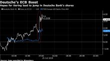 Deutsche Bank Shares Gain as ECB Weighs Impact of Negative Rates