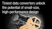 Smallest data converters deliver high integration and performance