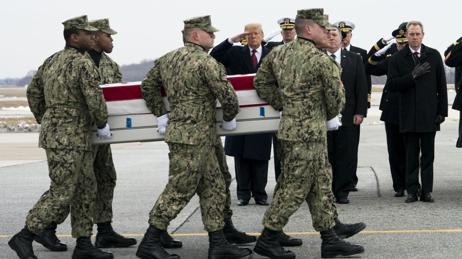 Trump invokes war's human toll to defend policies