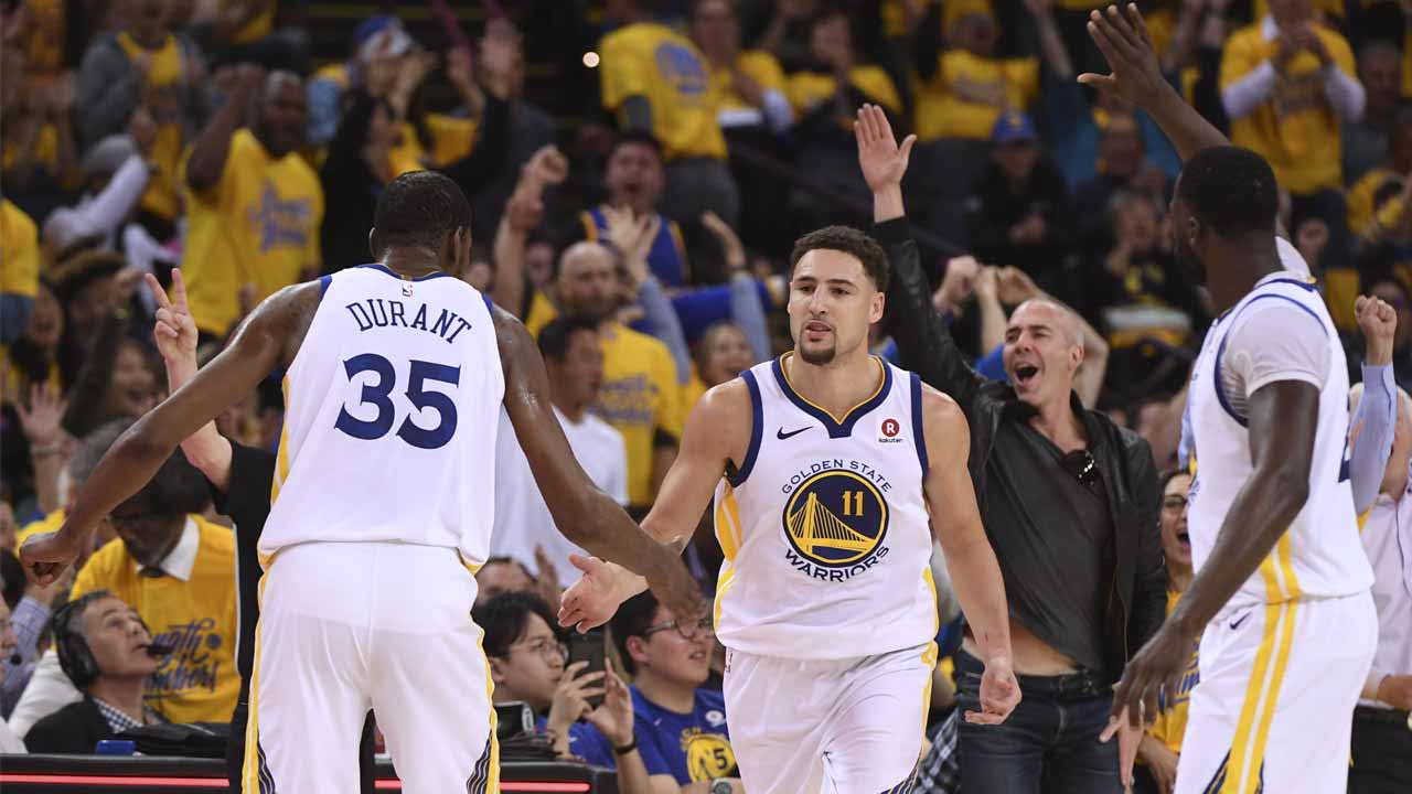 Photo of Kevin Durant's funny one-word comment on Klay Thompson shooting