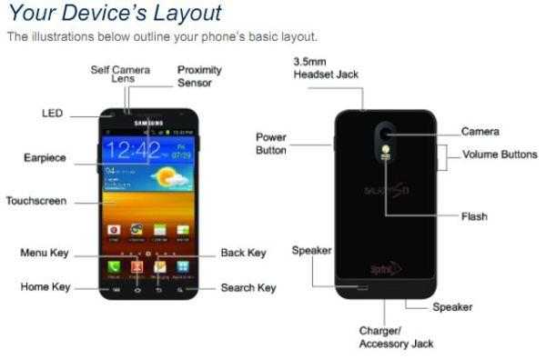 Samsung Epic 4G Touch user manual leaks, offering 150 pages of glorious diagrams