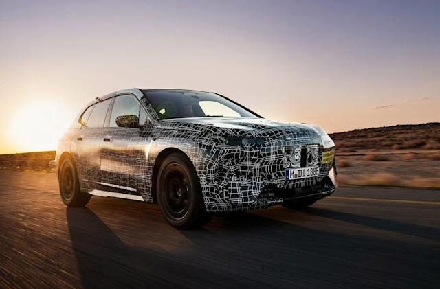 BMW teases its iNext prototype EV during a hot-weather test
