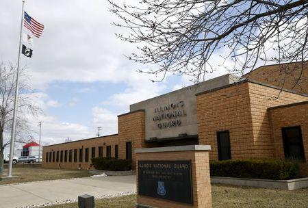 Exterior of the Illinois Army National Guard Readiness Center in Joliet, llinois March 26, 2015. REUTERS/Jim Young