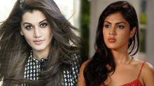 Tapsee Pannu has come out in support of Rhea Chakraborty