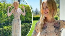 Nicole Kidman, 53, stuns in sheer beaded gown for SAG Awards