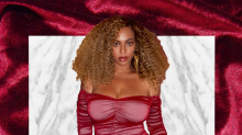 Beyonce flaunts curves in £120 red dress - two months after giving birth to twins