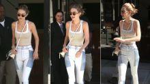 Jeans auf Jeans: Gigi Hadid liebt den neuen Patchwork-Trend