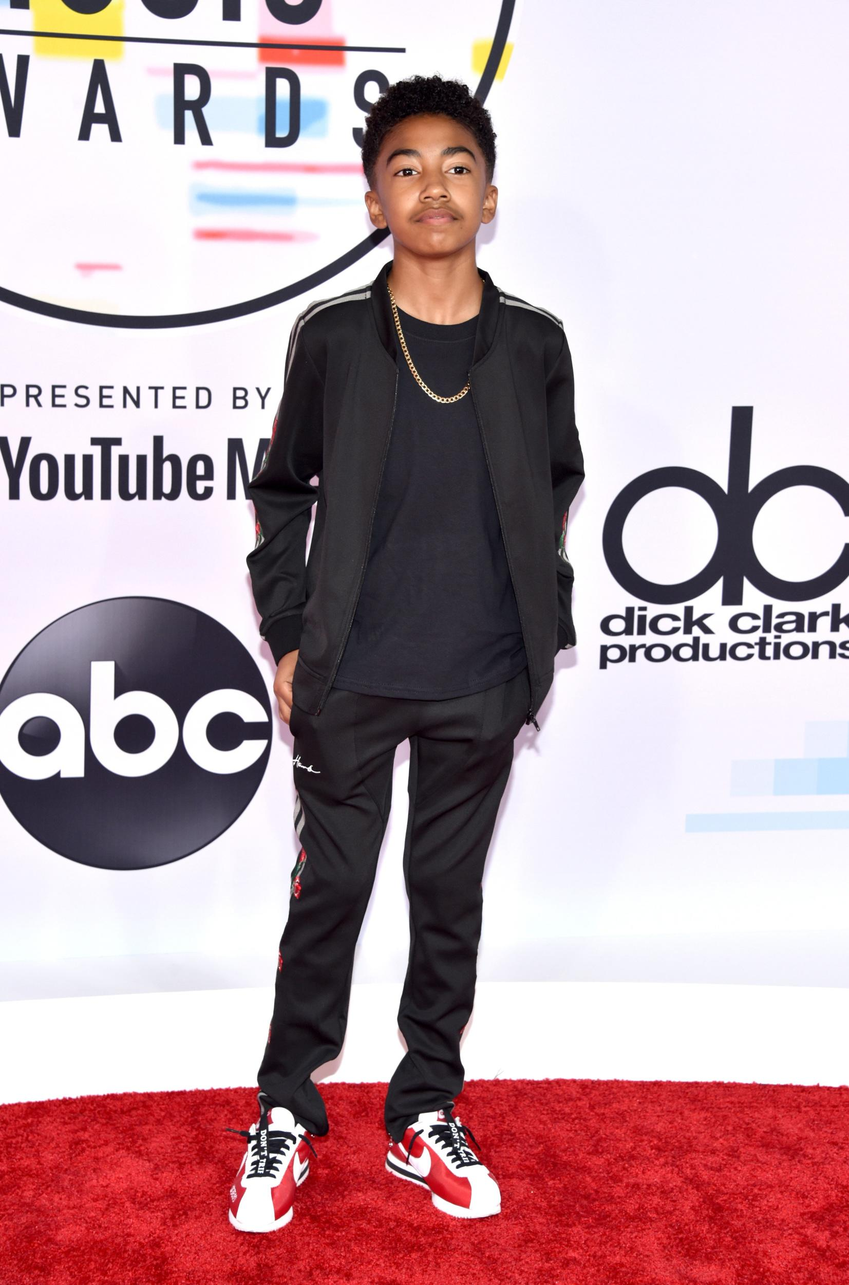 LOS ANGELES, CA - OCTOBER 09: Miles Brown attends the 2018 American Music Awards at Microsoft Theater on October 9, 2018 in Los Angeles, California. (Photo by John Shearer/Getty Images For dcp)