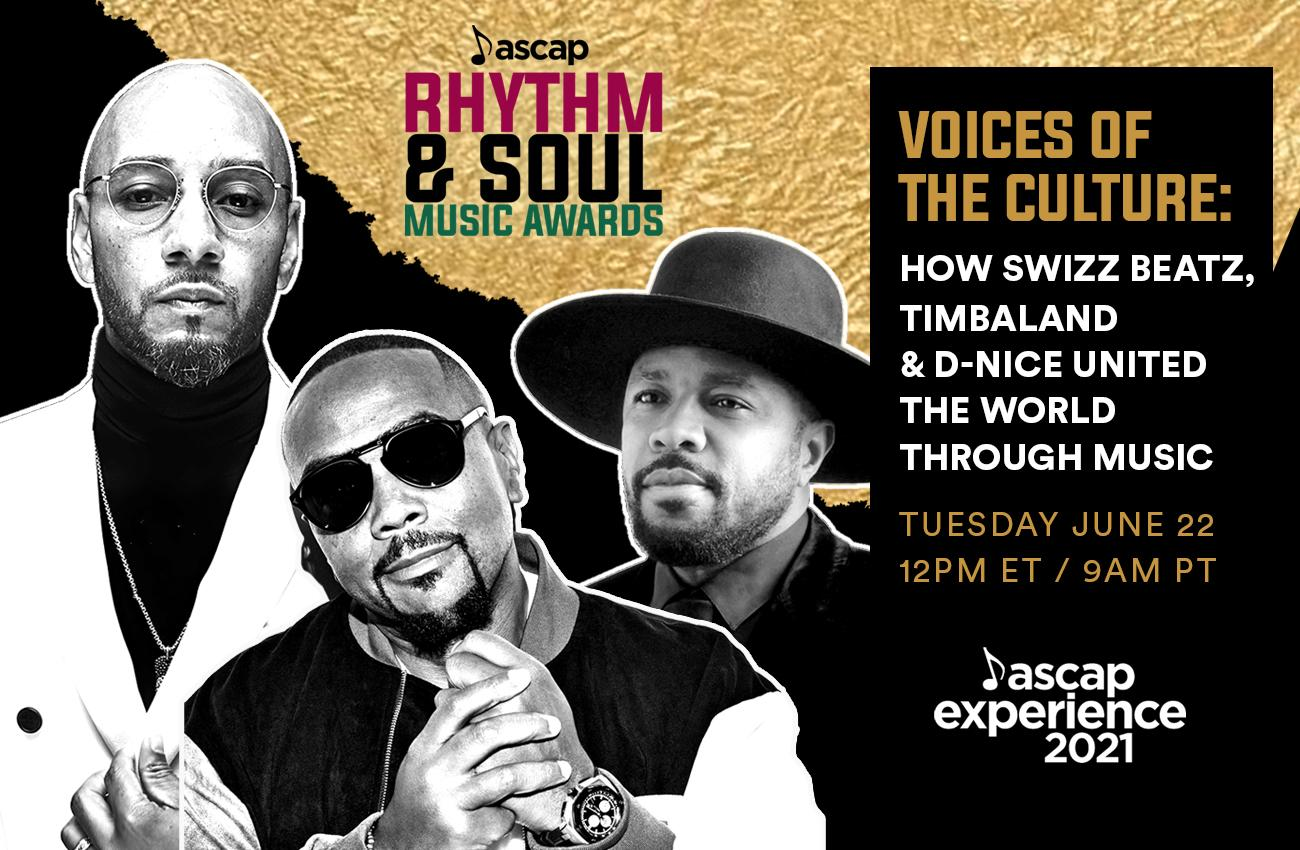 Swizz Beatz, Timbaland and D-Nice to Receive ASCAP Voice of the Culture  Award