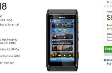 Nokia N8 pre-orders go live in the US, $549 for 'end of September' delivery