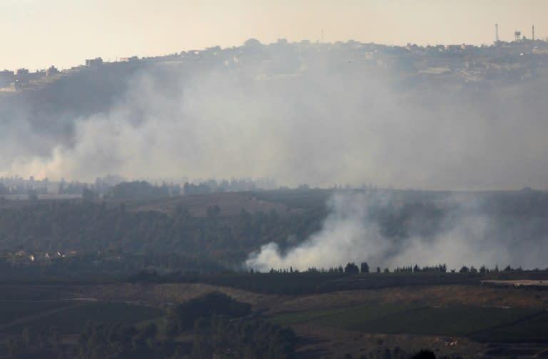 Smoke rises near the Israeli-Lebanese border after an exchange of fire (AFP Photo/Jalaa MAREY)