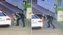Heart-stopping moment little girl is lured into car by stranger