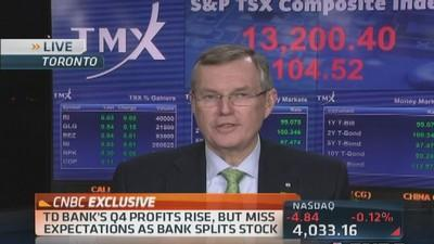 TD Bank CEO: Canadian economy slowing