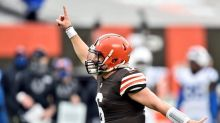 Mayfield confident he'll play Steelers despite sore ribs