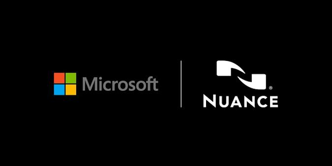 Microsoft and Nuance logos