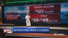 One insurer that was set to lose a bundle on Irma is skyrocketing