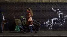 Banksy unveils new festive street art highlighting homelessness
