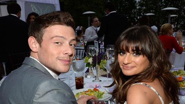 Lea Michele Paying Tribute at Cory Monteiths Memorial