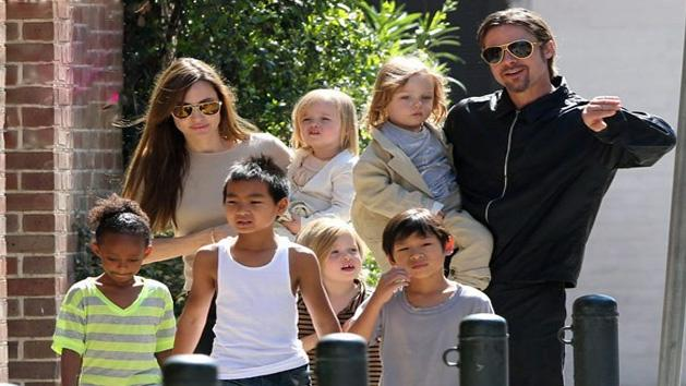 EIGHT Is The Compay' For Angelina Jolie And Brad Pitt!