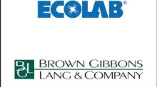 BGL Announces the Sale of Bioquell to Ecolab