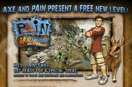 PSA: Pain adds 'Hurt Falls,' a free level sponsored by Axe