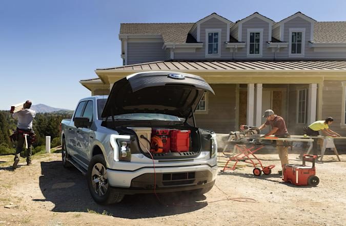Ford's F-150 Lightning Pro is a leaner commercial version of its electric pickup