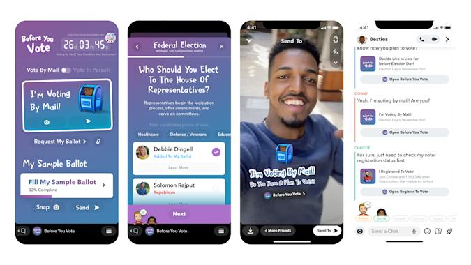 Snapchat is adding new tools to boost youth turnout.
