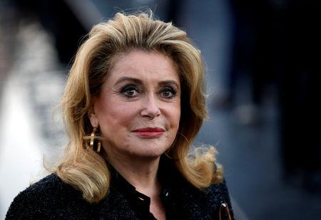 9443d1f01ff FILE PHOTO  Actor Catherine Deneuve arrives for the fashion house Saint  Laurent  39