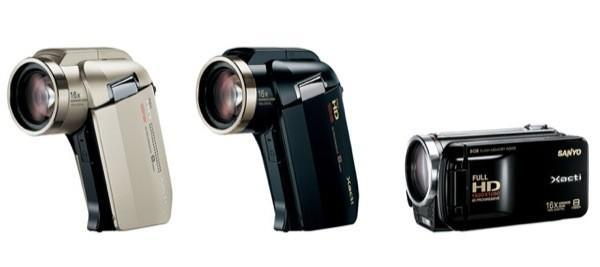 Sanyo's 2009 HD Xacti camcorder lineup brings a trio of world's firsts