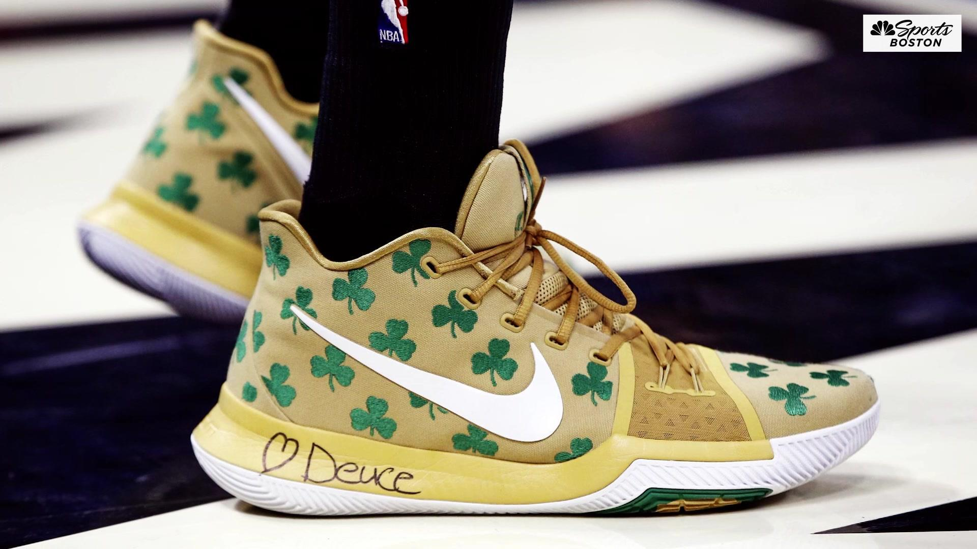 Sneakers aren't just about bright colors for the Celtics