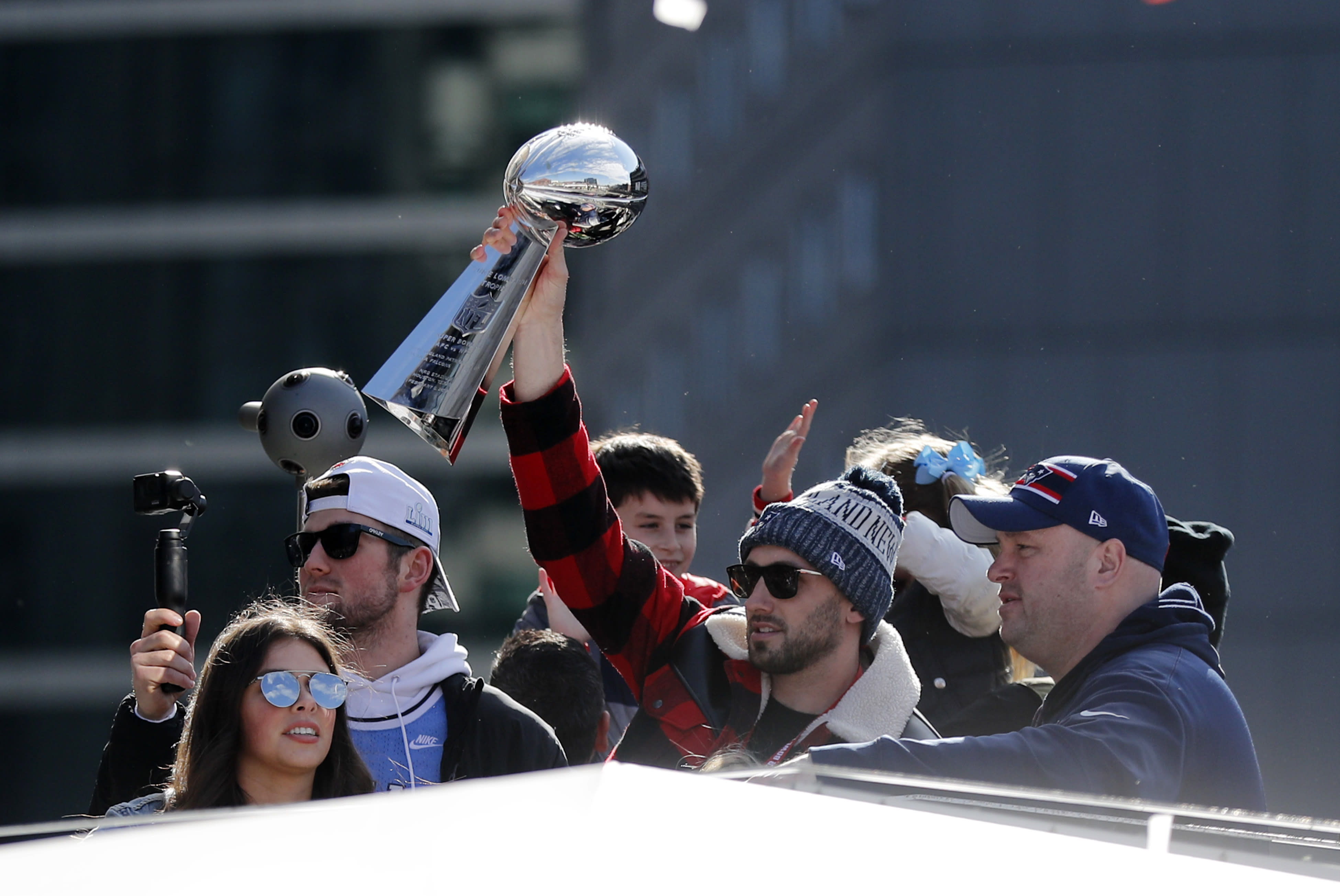 He didn't play in Super Bowl LIII, but New England Patriots backup quarterback Brian Hoyer played a big role in the team's win. (Getty Images)