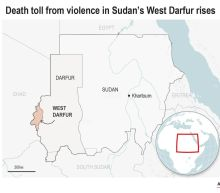 Tribal clashes leave dozens dead in 2 Sudanese provinces