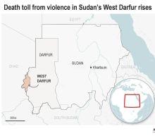 Tribal clashes leave dozens dead in 2 Sudanese provinces